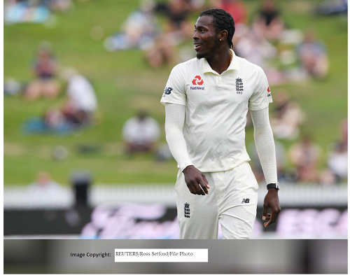December 2, 2019 England's Jofra Archer during the match